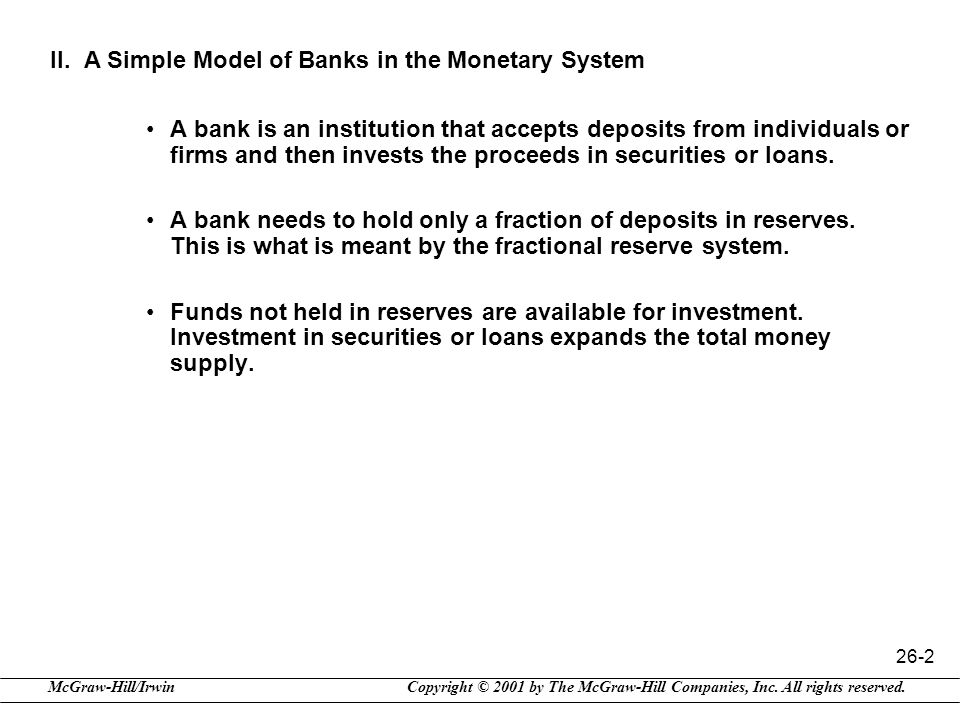 II. A Simple Model of Banks in the Monetary System