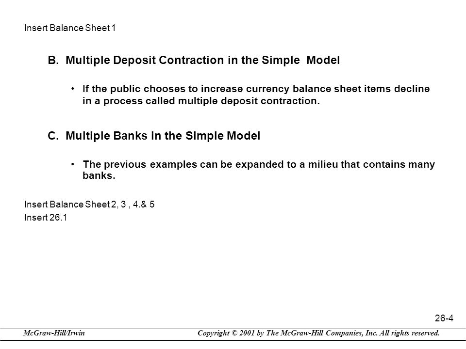 B. Multiple Deposit Contraction in the Simple Model