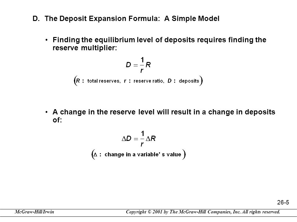 D. The Deposit Expansion Formula: A Simple Model