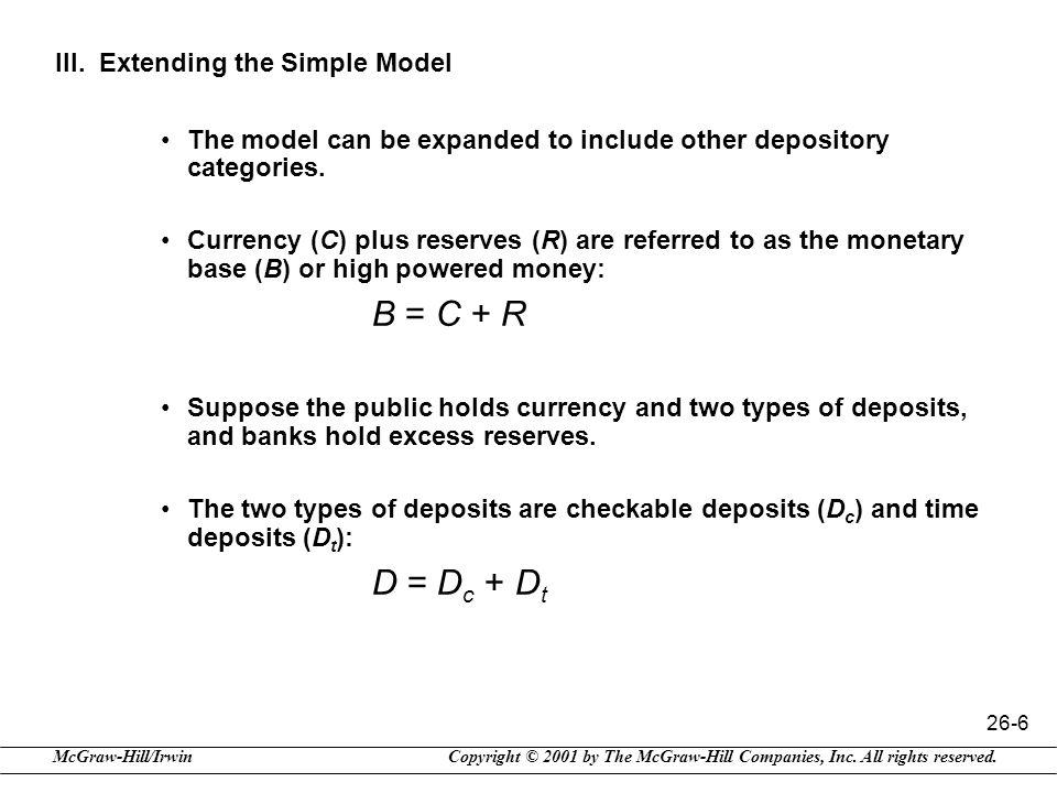 III. Extending the Simple Model