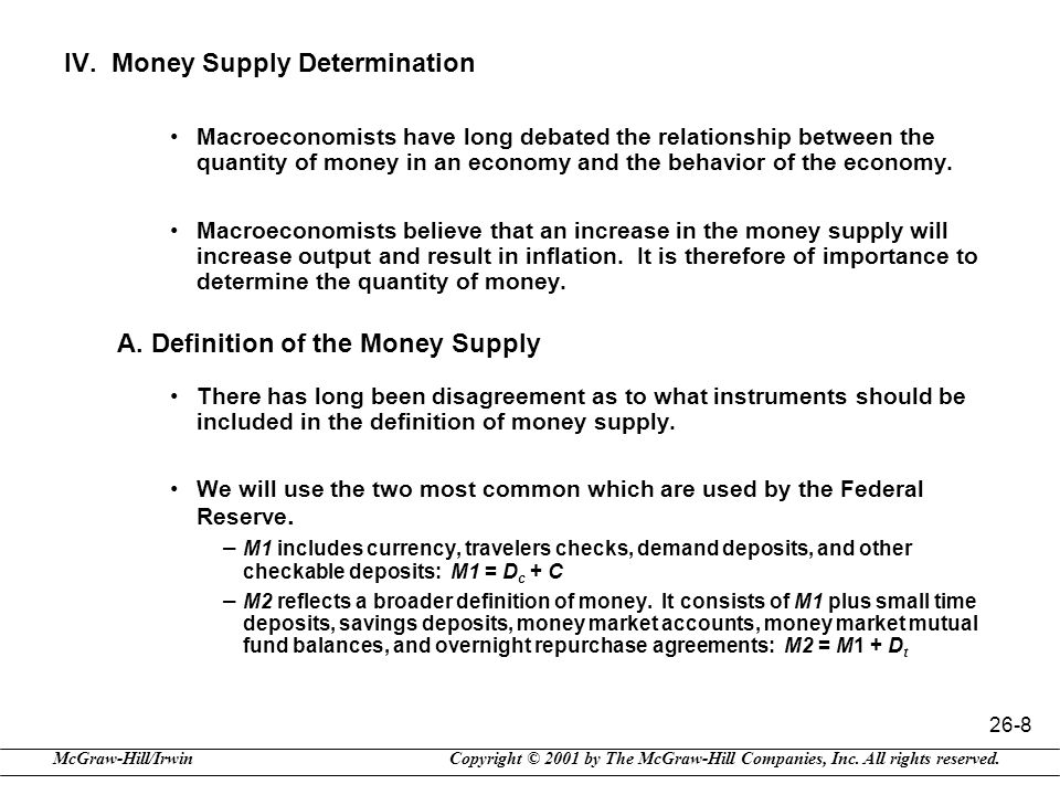 IV. Money Supply Determination
