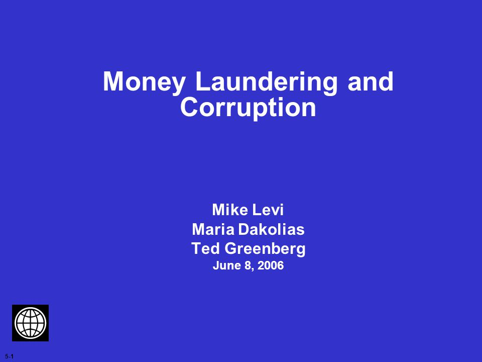 Money Laundering and Corruption