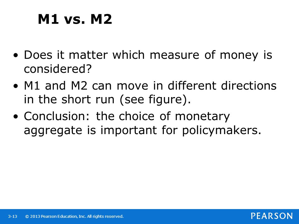 M1 vs. M2 Does it matter which measure of money is considered