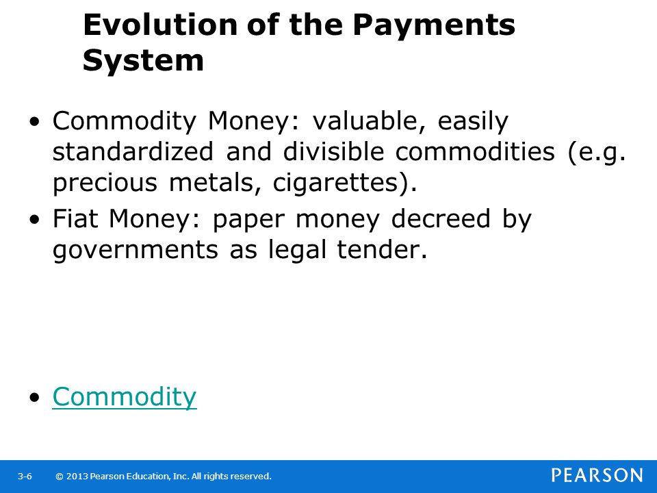 Evolution of the Payments System