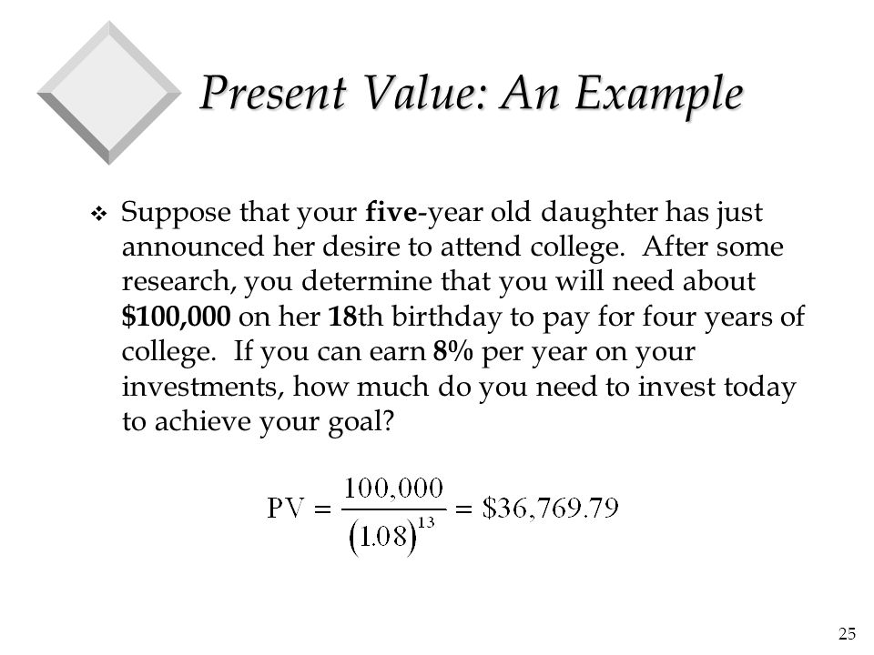 Present Value: An Example