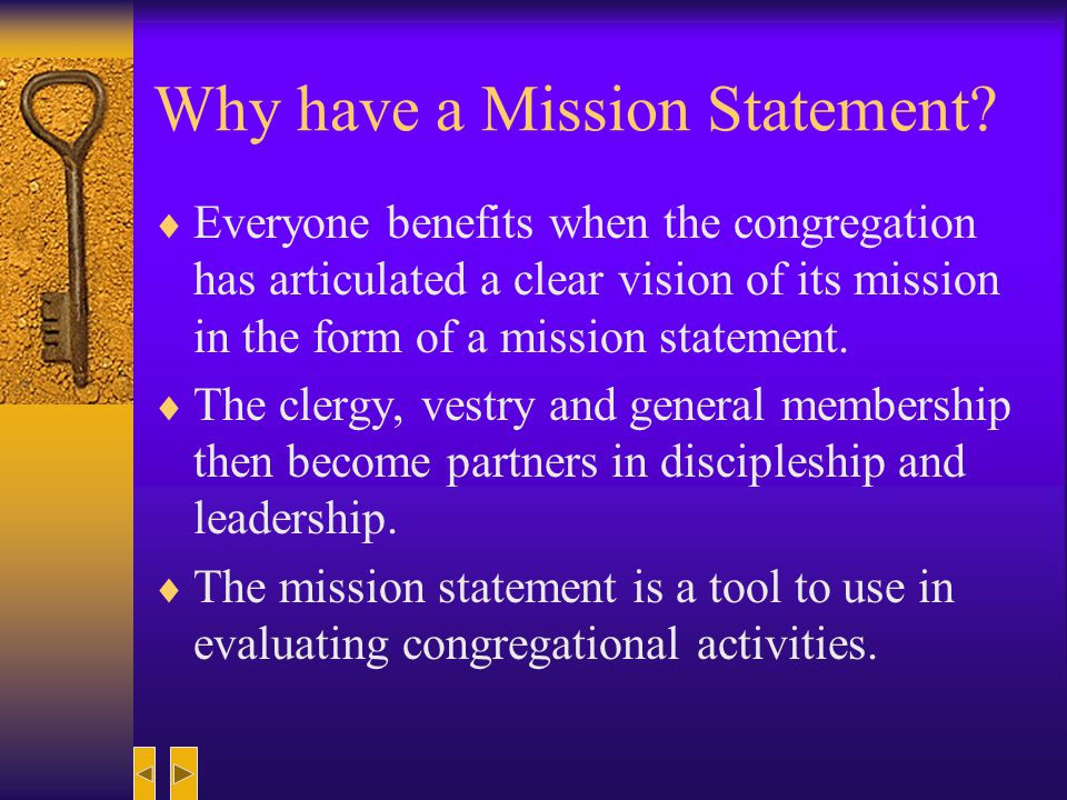 Why have a Mission Statement