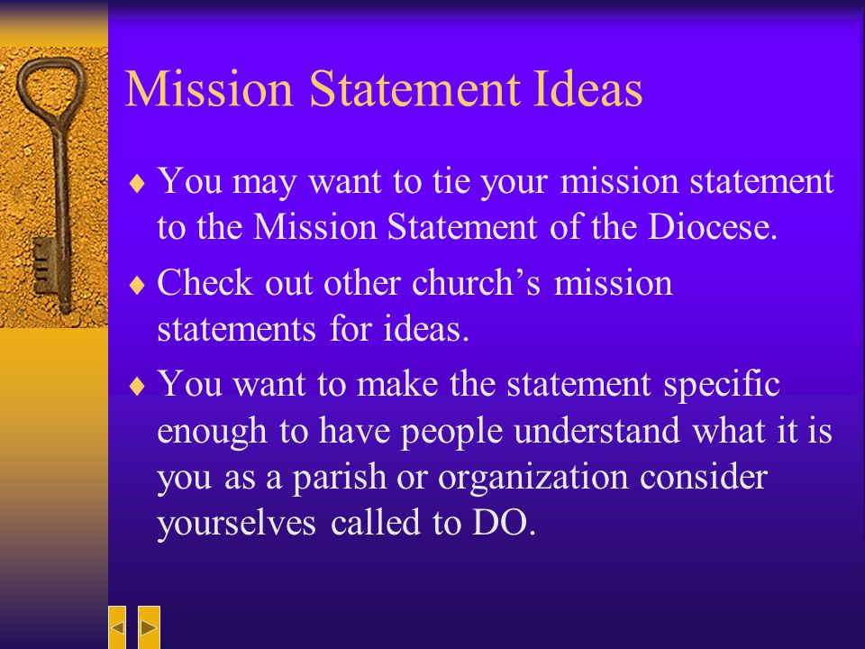 Mission Statement Ideas