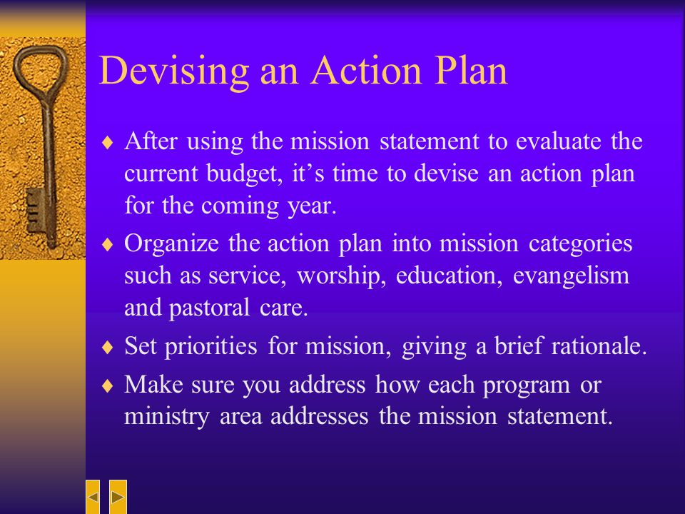 Devising an Action Plan