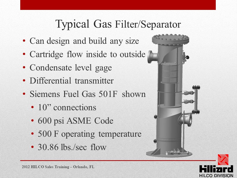Typical Gas Filter/Separator