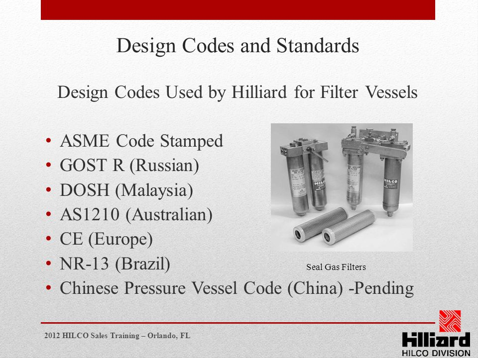 Design Codes and Standards