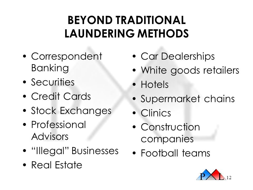 BEYOND TRADITIONAL LAUNDERING METHODS