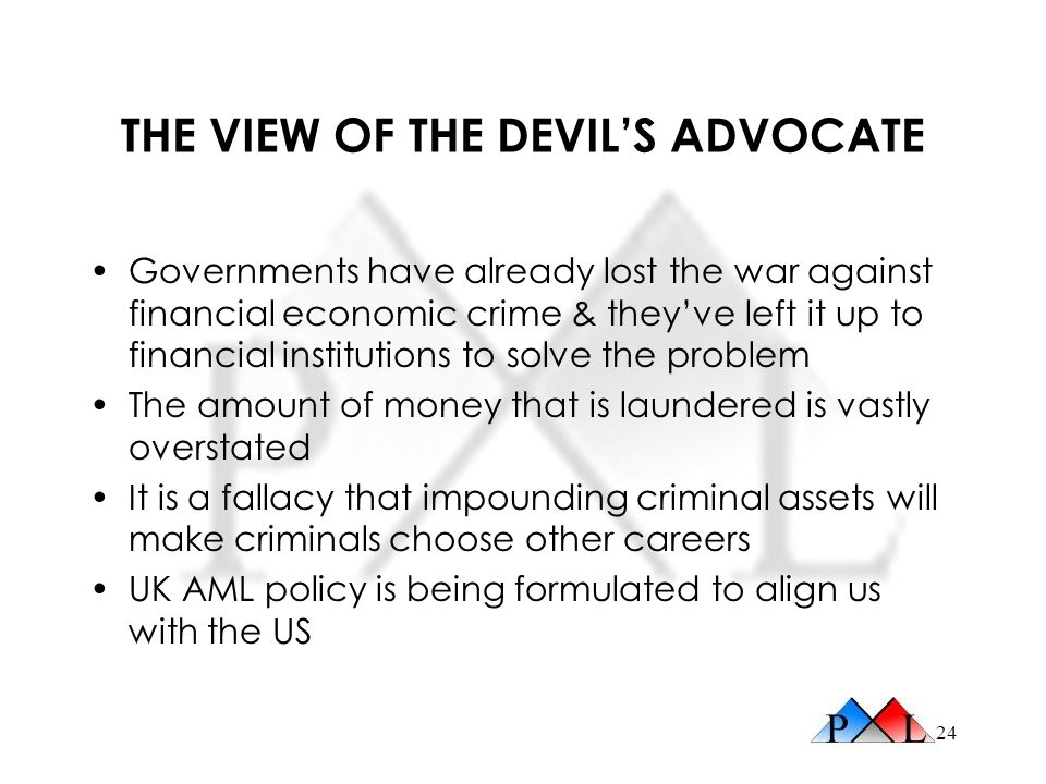 THE VIEW OF THE DEVIL'S ADVOCATE