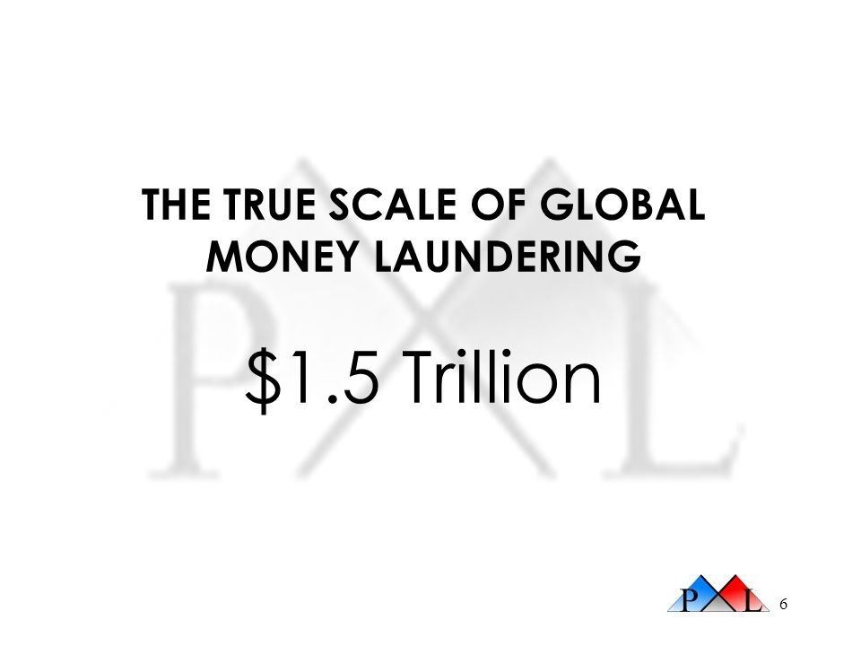 THE TRUE SCALE OF GLOBAL MONEY LAUNDERING $1.5 Trillion