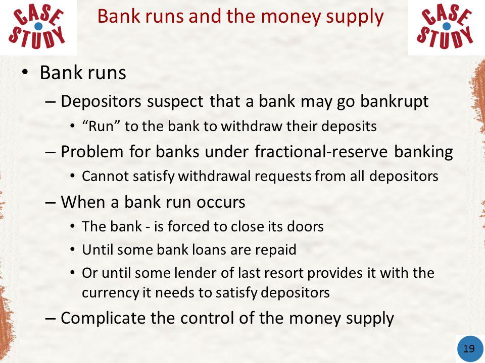 Bank runs and the money supply