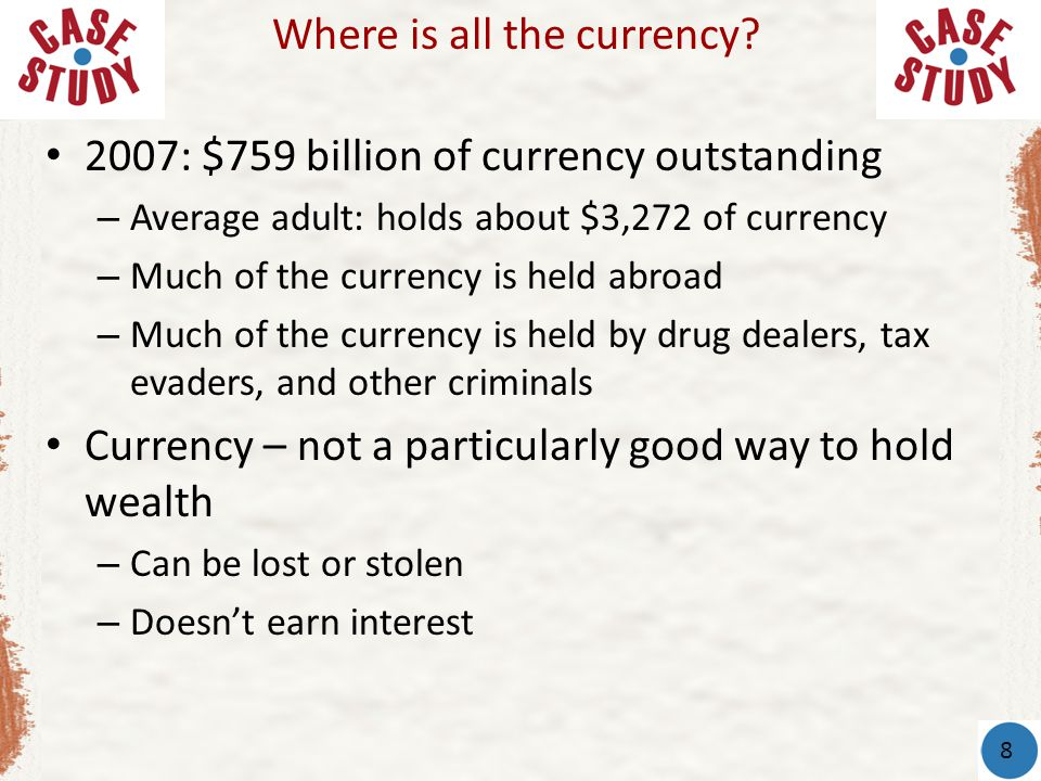 Where is all the currency