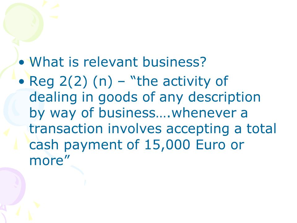 What is relevant business