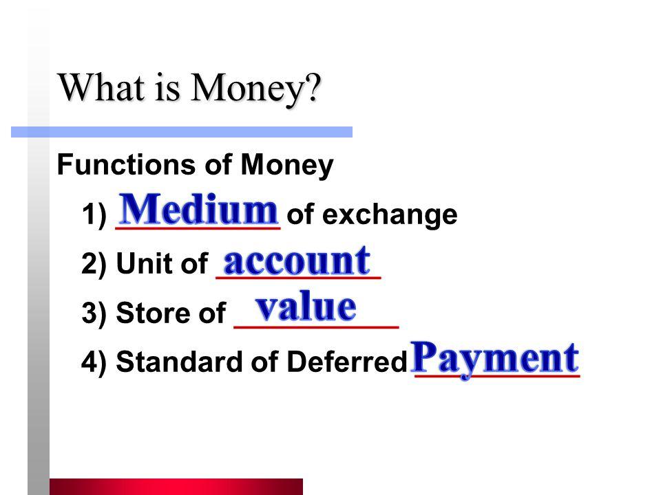 Medium account value Payment