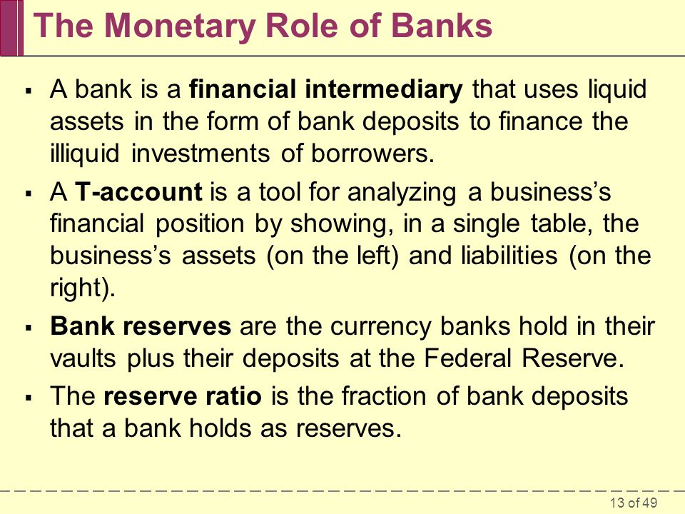 The Monetary Role of Banks