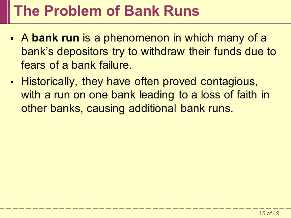 The Problem of Bank Runs