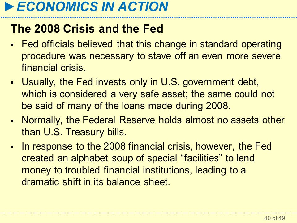 The 2008 Crisis and the Fed