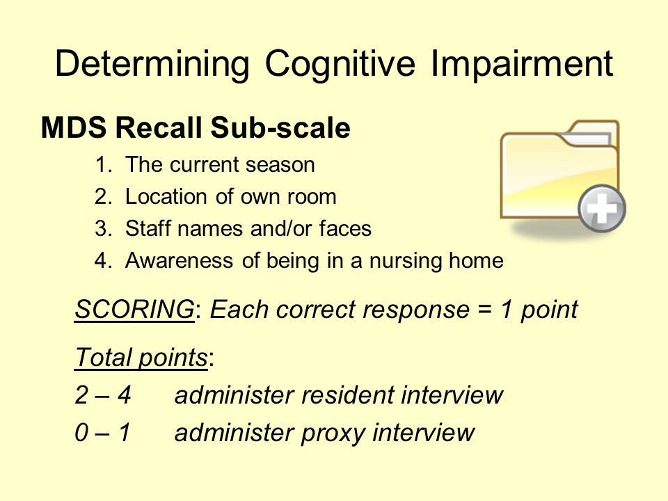 Determining Cognitive Impairment