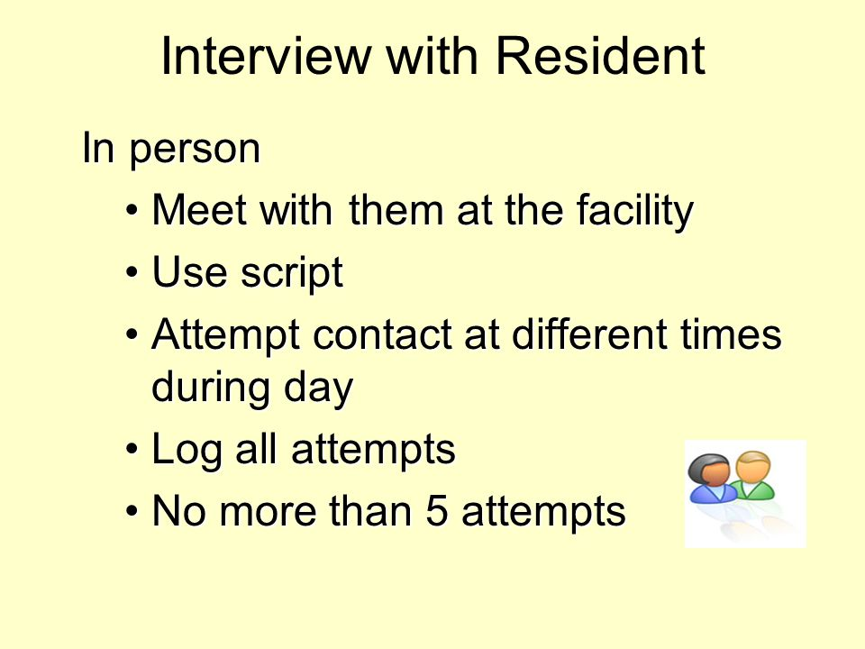 Interview with Resident