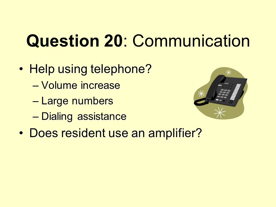 Question 20: Communication