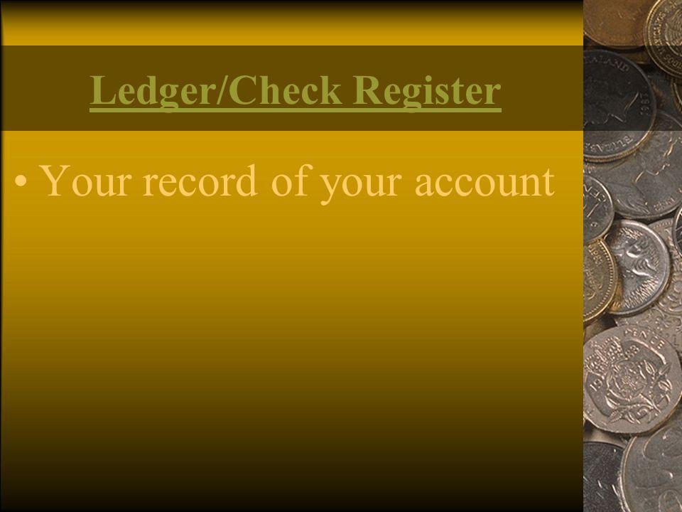 Ledger/Check Register