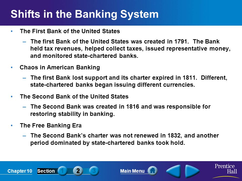 Shifts in the Banking System