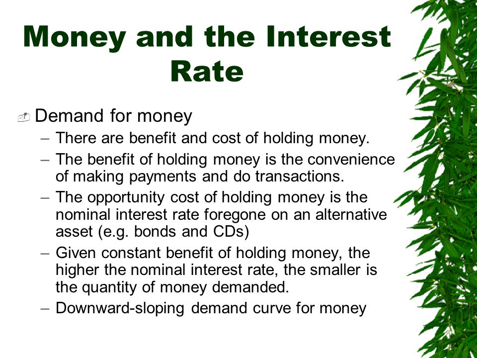 Money and the Interest Rate