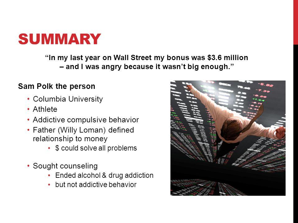 Summary Sam Polk the person Columbia University Athlete