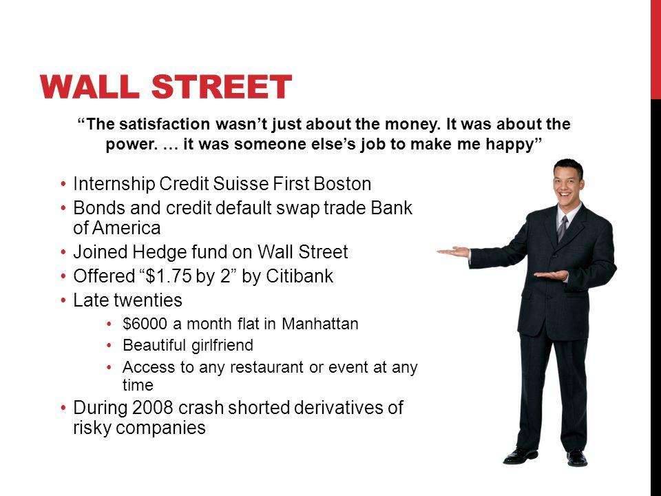 Wall Street Internship Credit Suisse First Boston