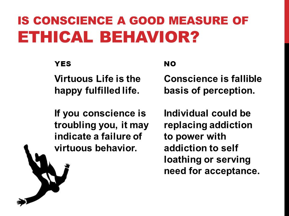 IS conscience a good measure of ethical behavior
