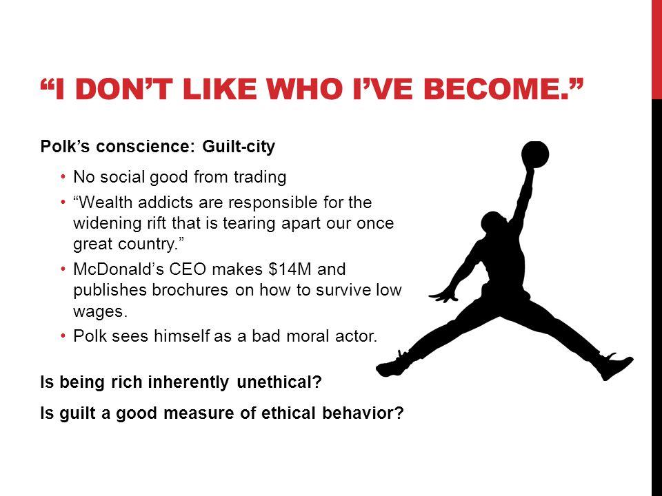 I don't like who I've Become.