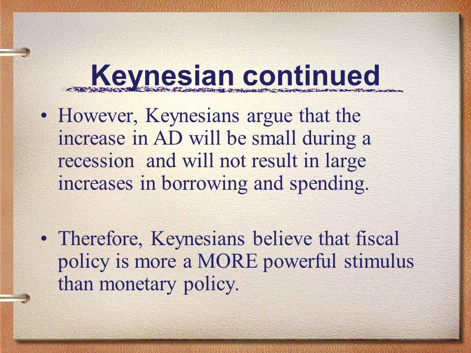 Keynesian continued