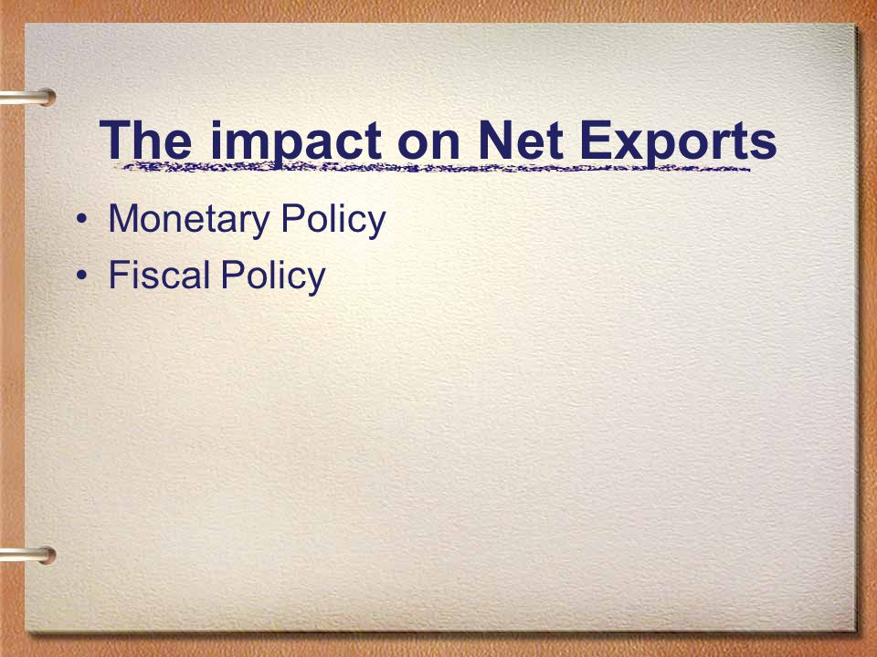 The impact on Net Exports