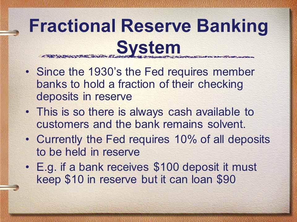 Fractional Reserve Banking System