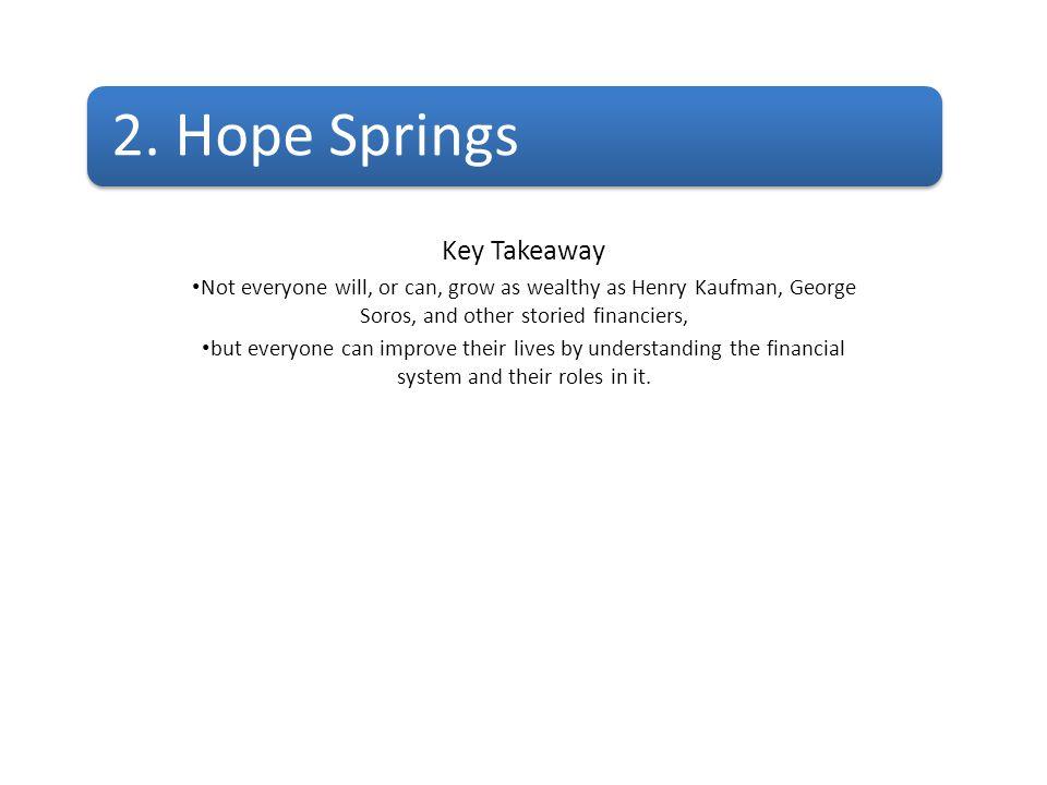 2. Hope Springs Key Takeaway