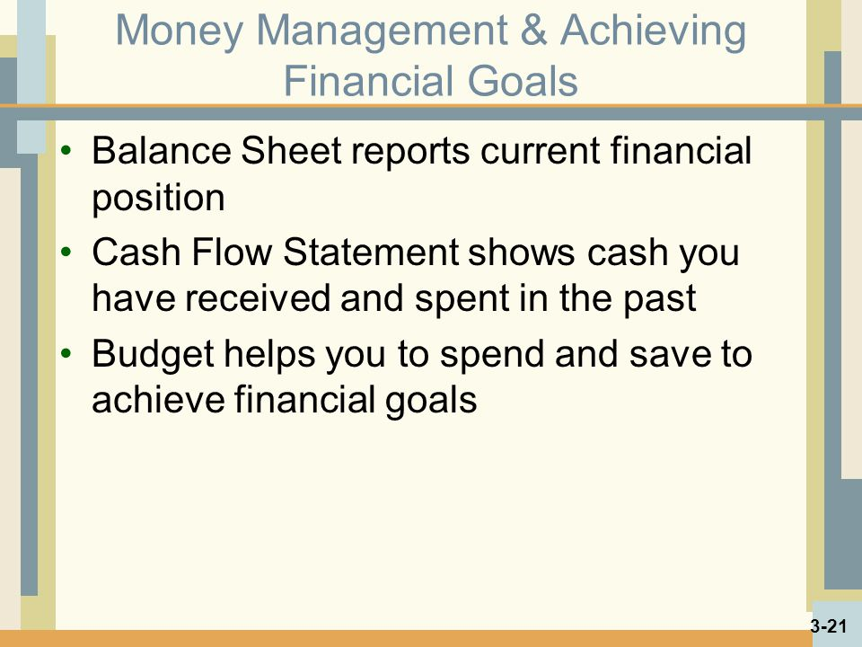 Money Management & Achieving Financial Goals