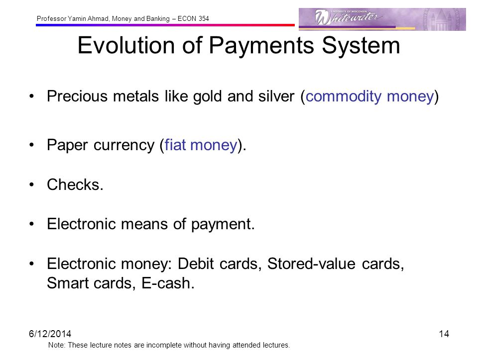 Evolution of Payments System