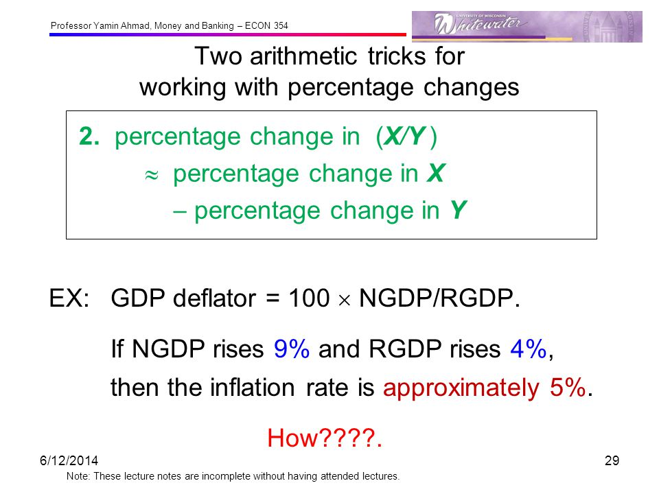 Two arithmetic tricks for working with percentage changes