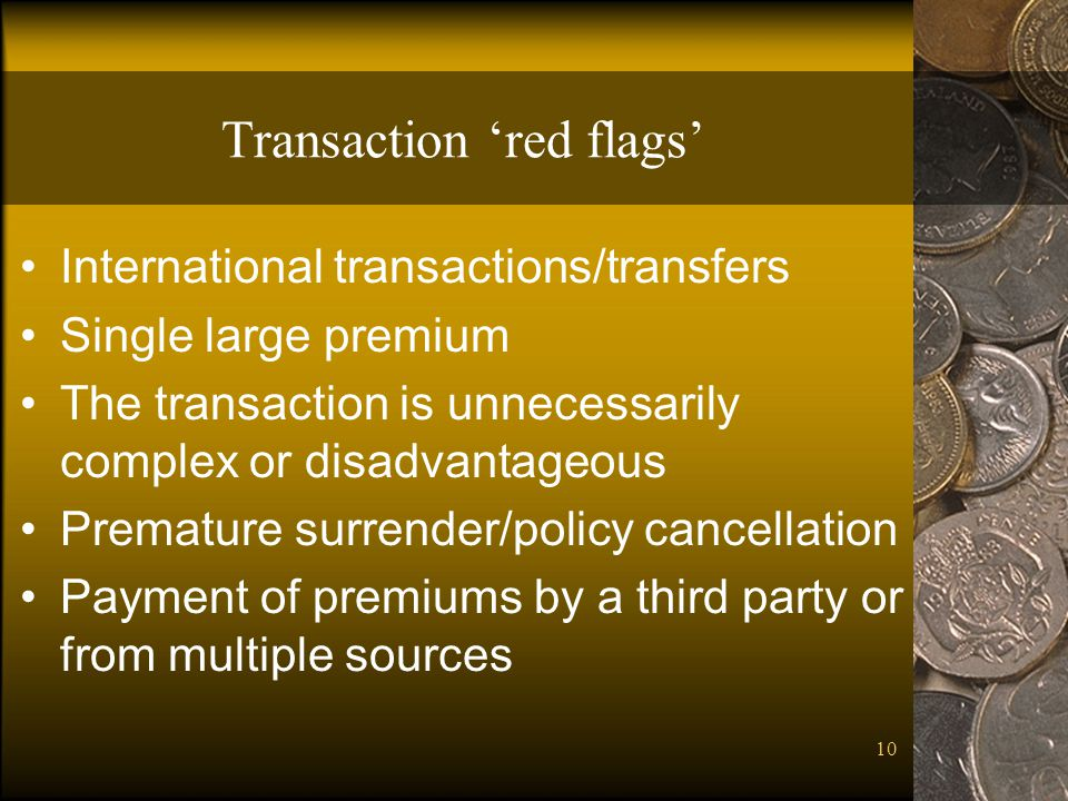 Transaction 'red flags'