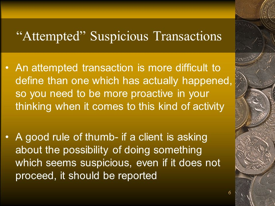 Attempted Suspicious Transactions