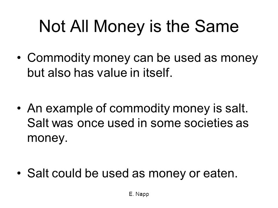 Not All Money is the Same
