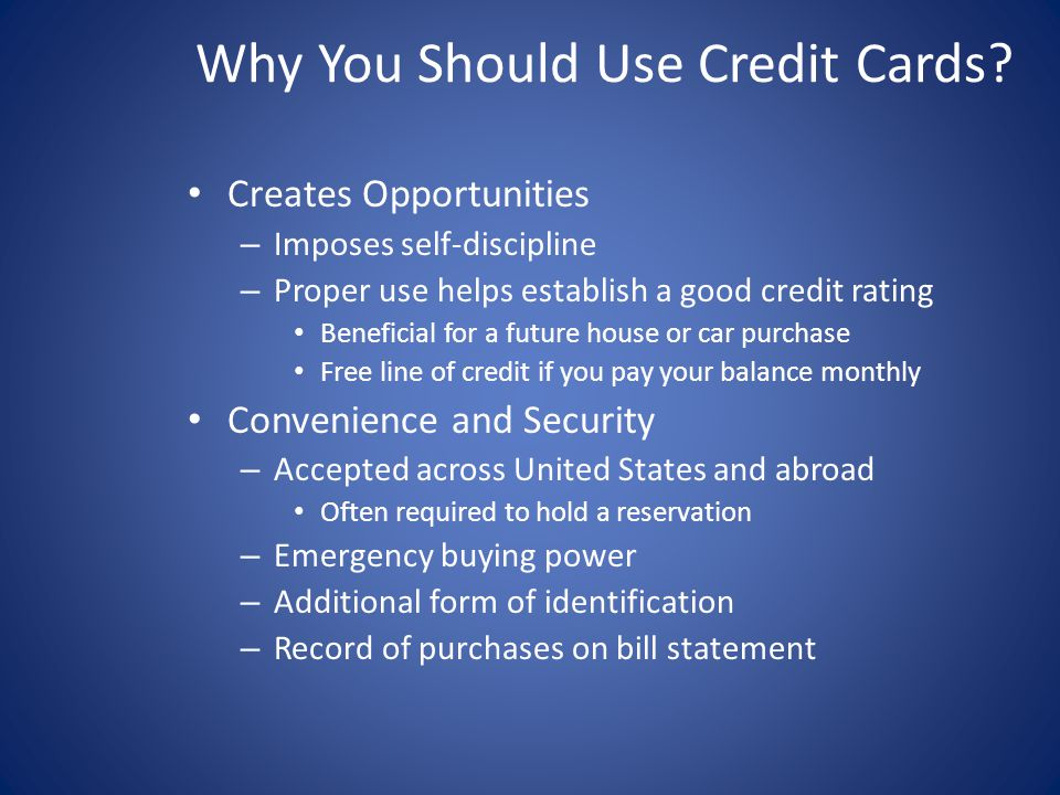 Why You Should Use Credit Cards