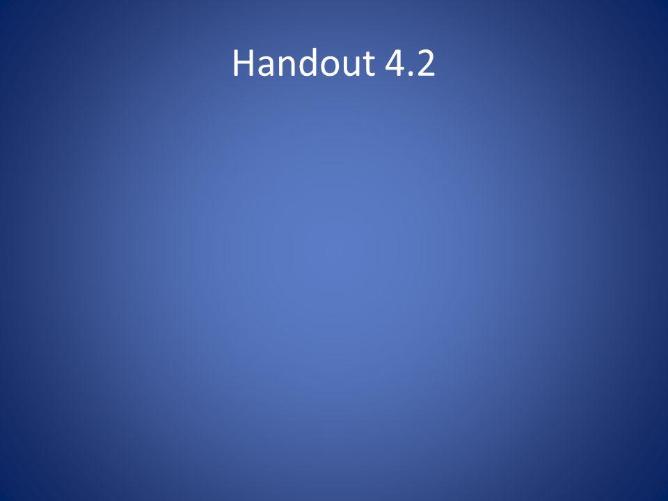 Handout 4.2