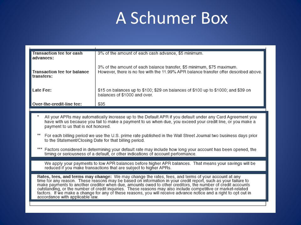 A Schumer Box
