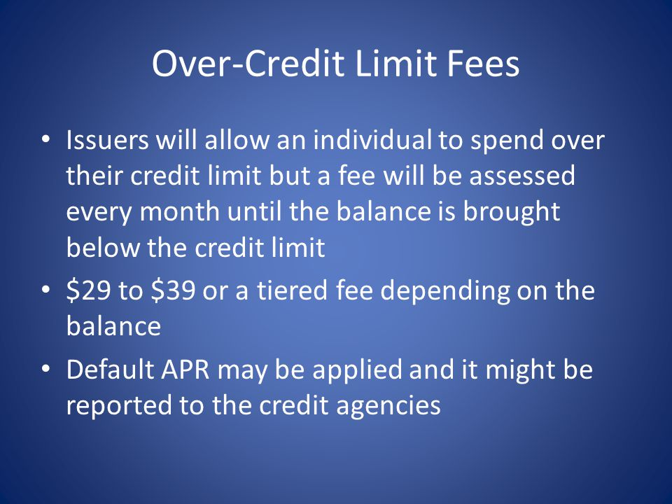 Over-Credit Limit Fees