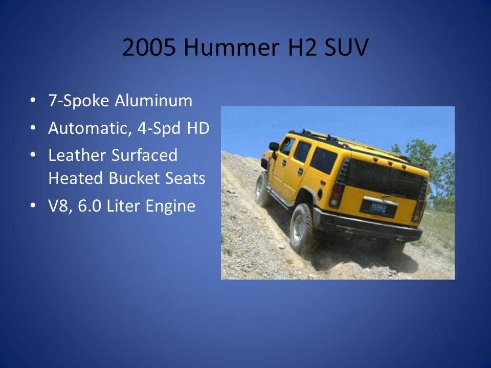 2005 Hummer H2 SUV 7-Spoke Aluminum Automatic, 4-Spd HD