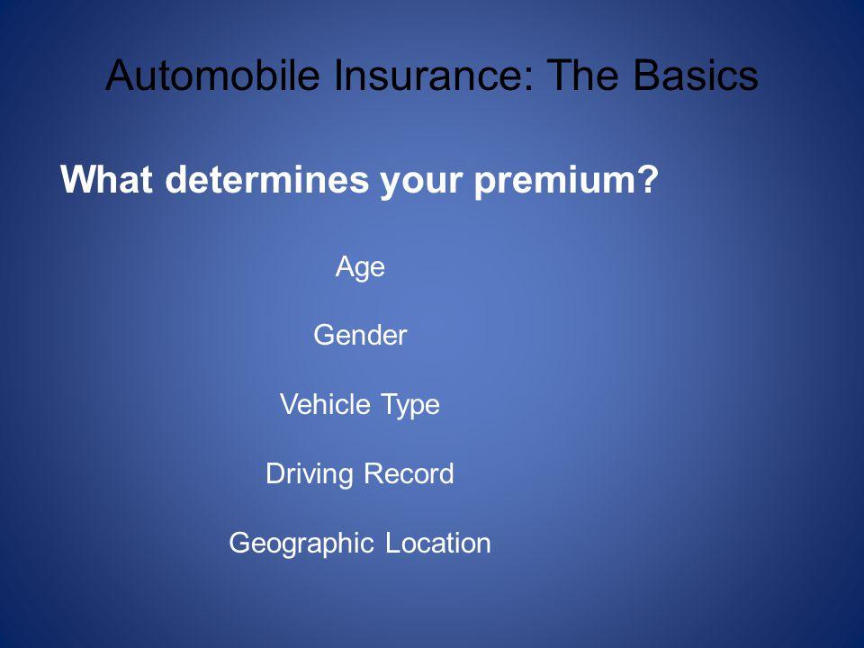 What determines your premium